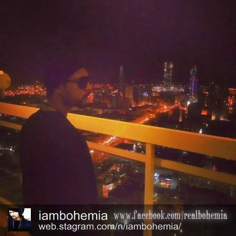 Bohemia Enjoying the View of Bahrain
