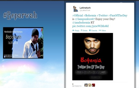 Bohemia Twitter Fan of the Day.