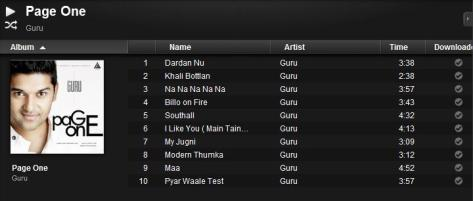 Page One-Album of Guru