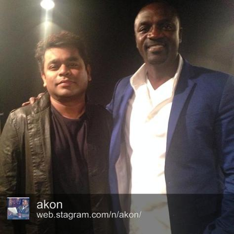 Akon and A.R. Rahman