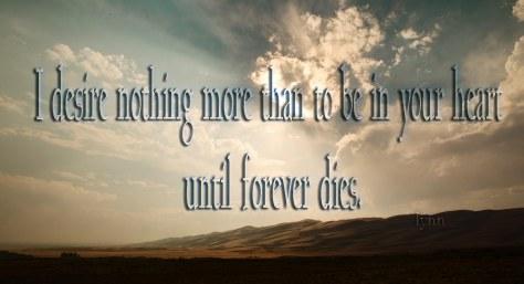 I desire NOTHING!!!